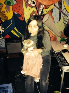 Andrea Pensado with doll